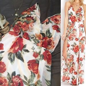 Floral Maxi Wrap Dress 🌺